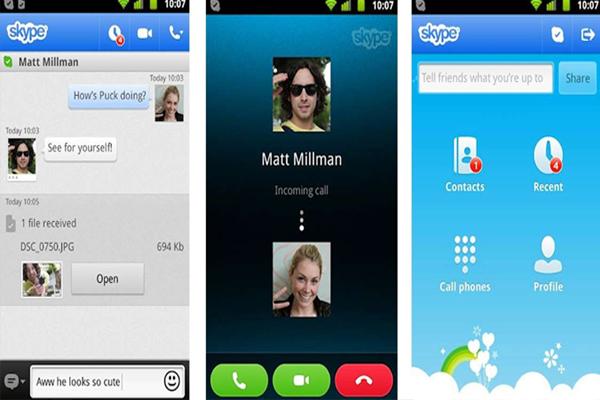 Skype chat app image
