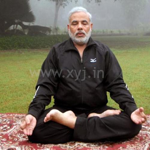 Modi in Yog Mudra