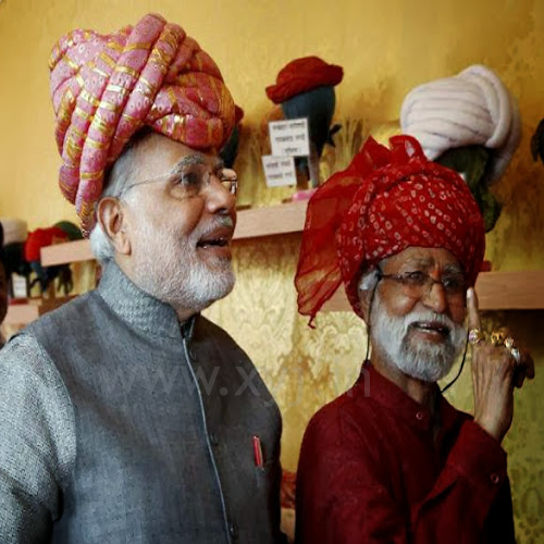 Narendra Modi Wearing Different Caps 25