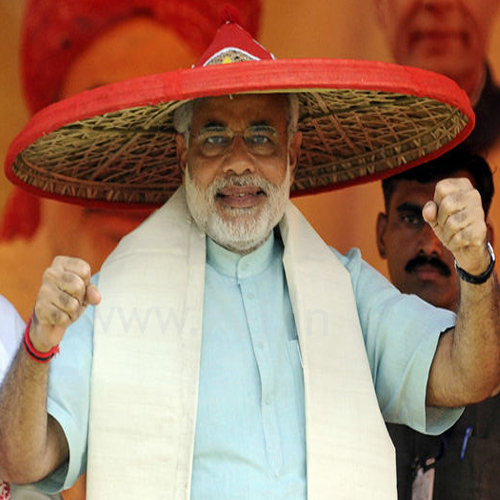 Narendra Modi Wearing Different Caps 3