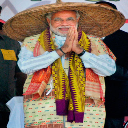Narendra Modi Wearing Different Caps 34