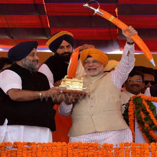 Narendra Modi Wearing Punjabi Pagri