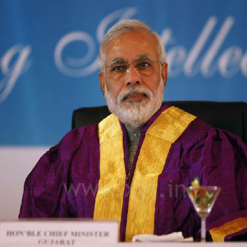 Narendra Modi during a convocation ceremony