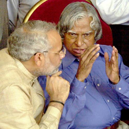 Narendra Modi with APJ Abdul Kalam Azad