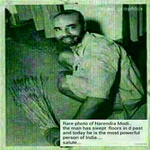 Rare Photo of Narendra Modi