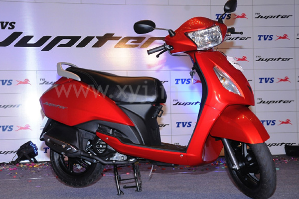TVS Jupiter volcano red scooter