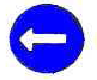 Compulsory turn left Sign