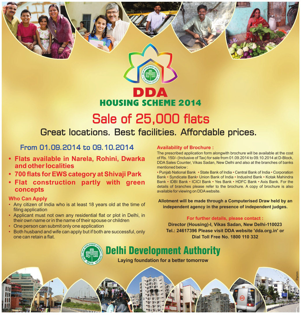 Watch DDA Draw Live Online for Housing Scheme 2014