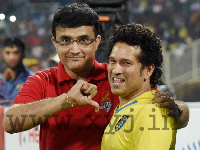 million dollar of Pic of Sachin & Sourav in ISL football