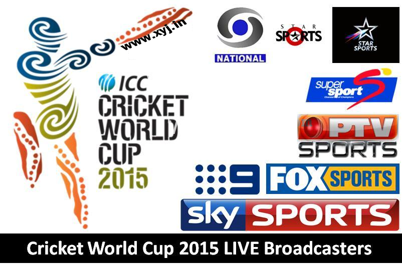 Cricket World Cup 2015 Broadcast Channels Name