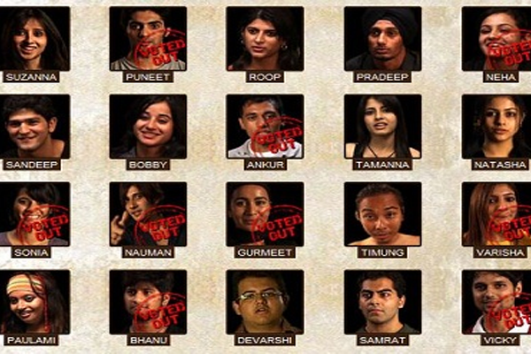 MTV roadies selected contestants of season