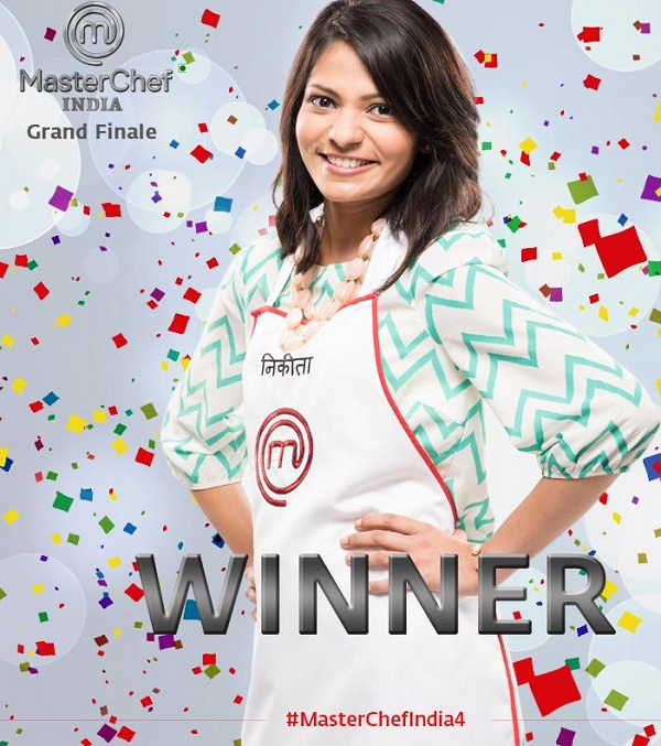 Nikita Gandhi winner of masterchef india season 4