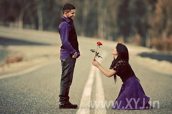 girl proposing boy on valentine day image