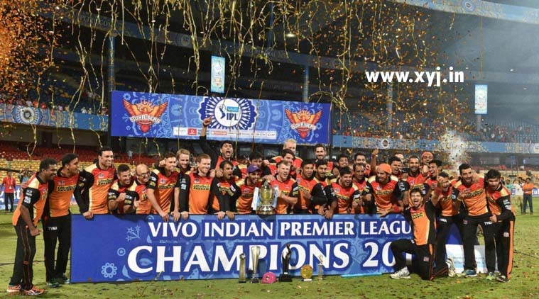 IPL 2016 Season 9 winner Sunrisers Hyderbad Winning Image