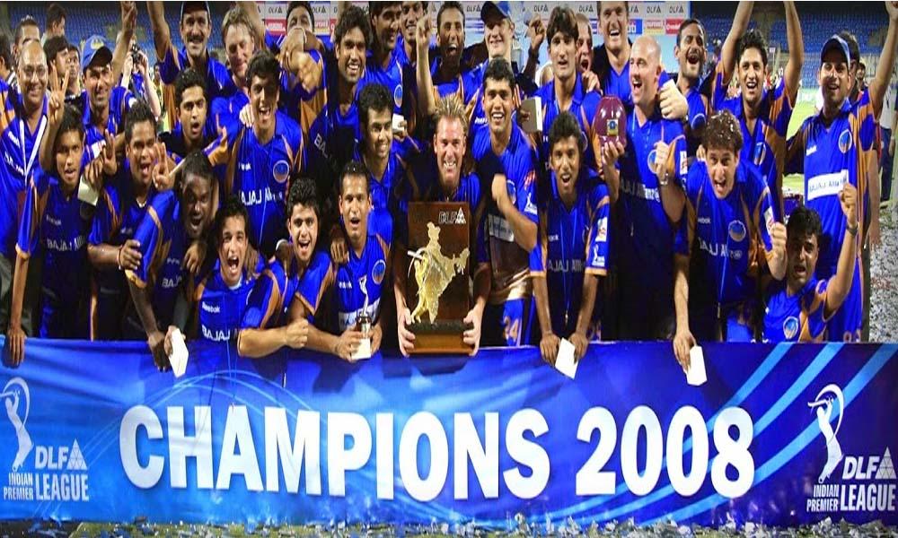 IPL Season 1 Winner Team Rajasthan Royals Picture Image