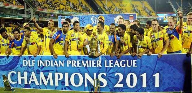 IPL Season 4 Winner Team Chennai Super Kings Year 2011 Image