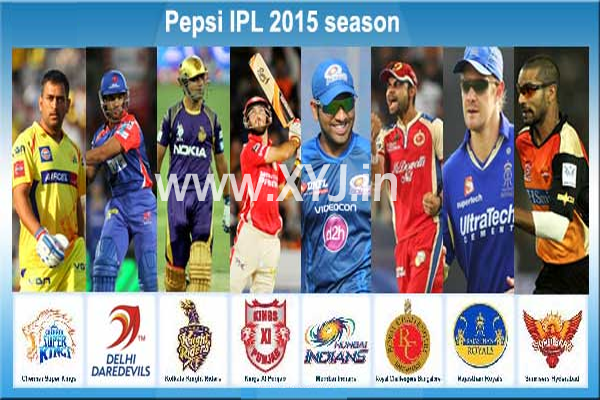 Pepsi IPL 2015 Matches Schedule & Time Table Details