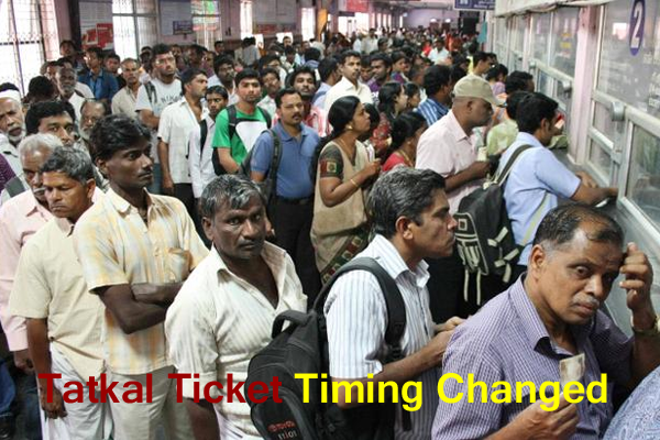 tatkal ticket timing changed