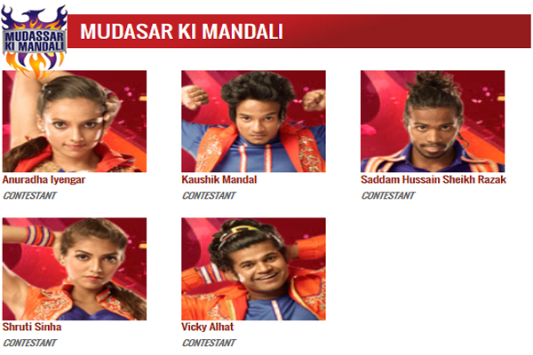 DID 5 Mudassar Ki Mandali Contestants Name with Image