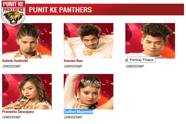 DID 5 Punit Ke Panthers Contestants Name with Image