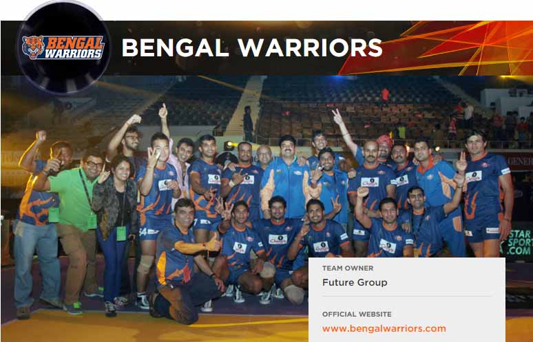 Bengal Warriors Logo, Team Players