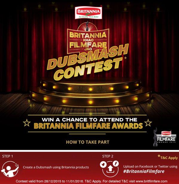 Dubsmash Contest : Britannia Khao Filmfare Jao Contest 2016