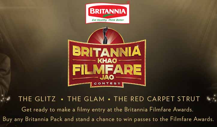 Britannia Khao Filmfare Jao Contest 2016 Win Entry Passes for 10 Copule