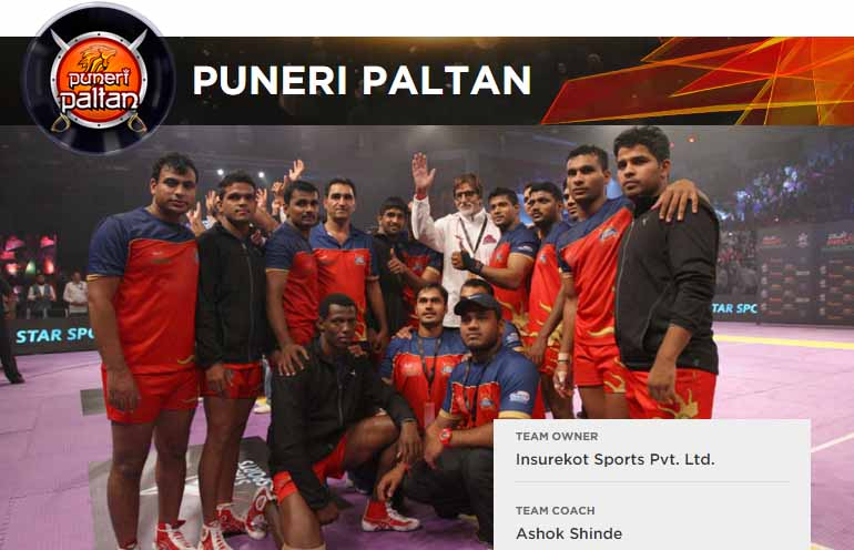 Pro Kabaddi Puneri Paltan Team Players Name & Match Schedule Details
