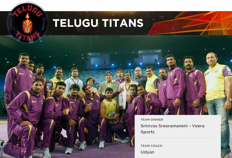 Telugu Titans Logo, Team Players