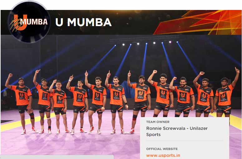 Pro Kabaddi U Mumba Team Players Name & Match Schedule Details