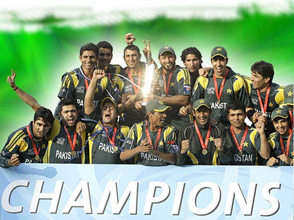ICC T20 World Cup 2009 Winner Pakistan Team Image