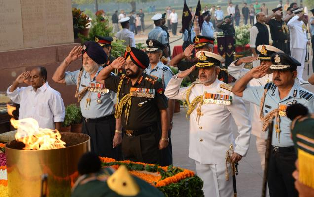 Indian Army, Air Force and NAvy Salute