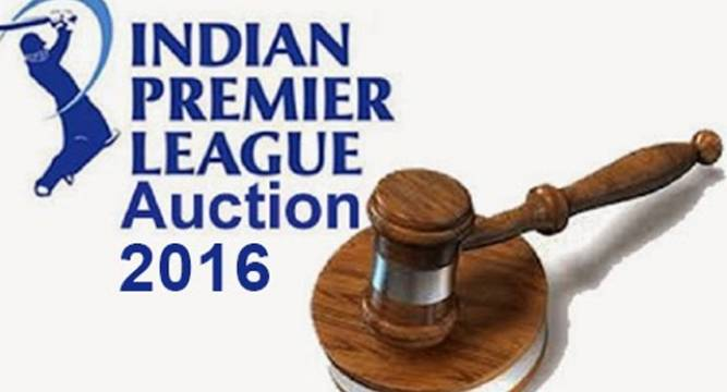 IPL Auction 2016 Complete List of Sold Players in IPL 2016 Auction with Price Money