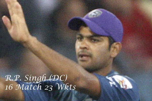 R.p.singh with purple cap in ipl 2