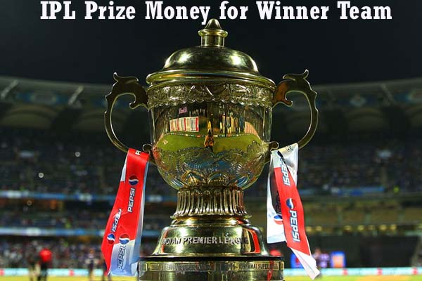 ipl prize money for winner team