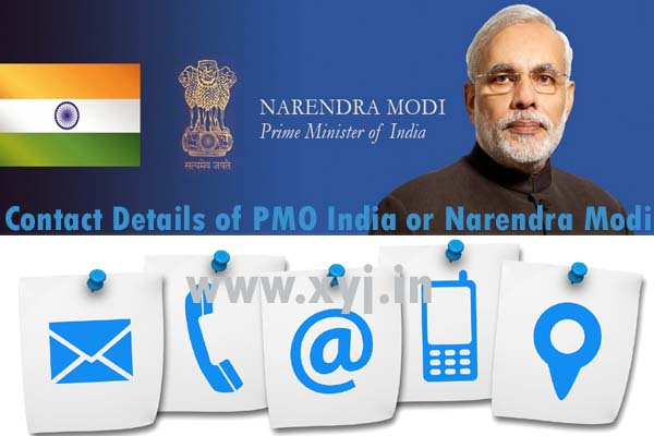 Contact Details of PMO or Narendra Modi India