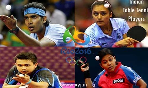 List of Indian Players (Athletes) Who Qualified for Table Tennis in Rio Olympics 2016