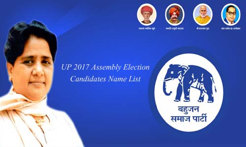 BSP Candidates Name List 2017 for Assembly Elections