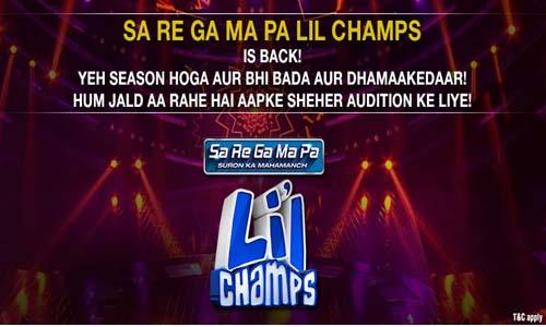 Sa Re Ga Ma Pa Lil Champs 2016-17 audition Date & Venue Details