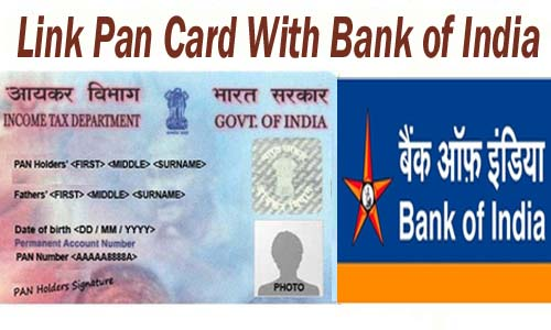 Link Pan Card With Bank of India of India Account Online| Offline | SMS | IVRS