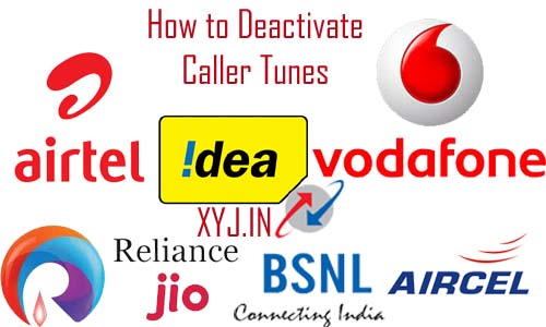 how to deactivate caller tunes