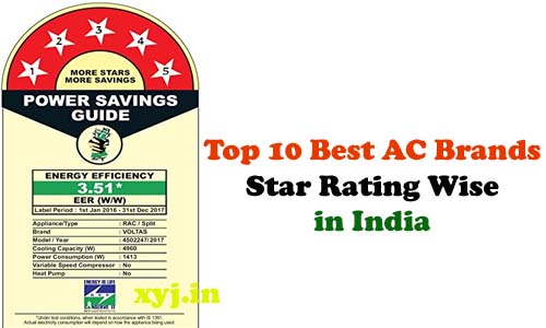 List of Top 10 Best AC Brand Star Rating wise in India (2017)